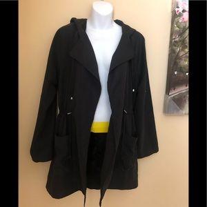 Jackets & Blazers - Hooded Anorak/Utility jacket  in black.